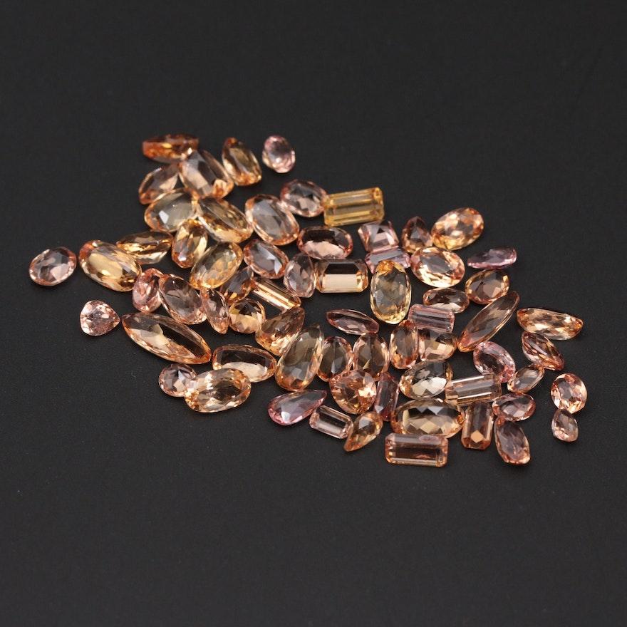 Loose 37.52 CTW Topaz Gemstones