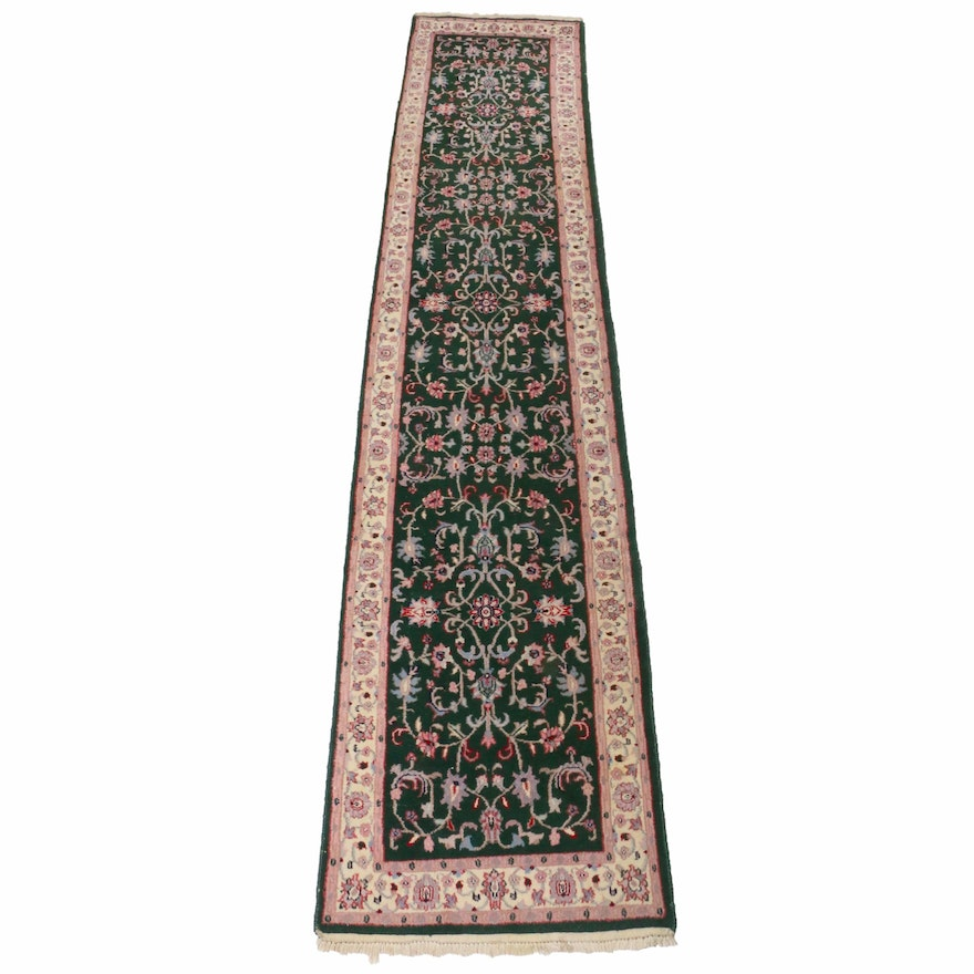 2'7 x 12'3 Hand-Knotted Indo-Persian Tabriz Runner, 1990s