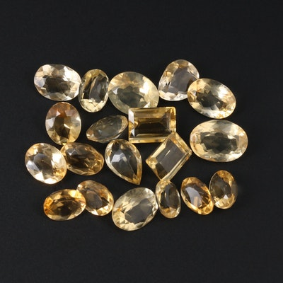 Loose 53.24 CTW Citrine Gemstones