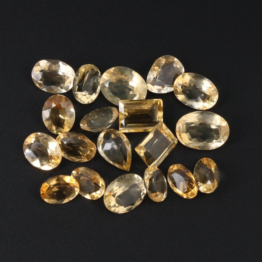 Loose 53.24 CTW Citrine Gemstones
