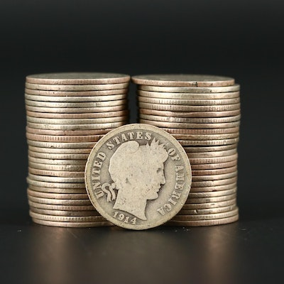 Fifty-Two Barber Silver Dimes