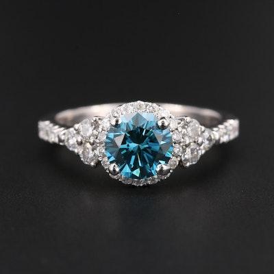 18K White Gold 1.68 CTW Diamond Ring