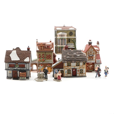 Dept. 56 Dickens' Village Series Porcelain Buildings and Accessories