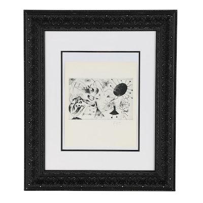 "Rotogravure after Joan Miró Etching from ""Série noire et rouge"""