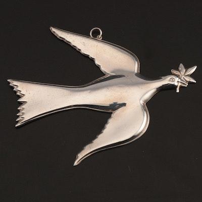 "Gorham American Heritage Society ""Mount Vernon Dove"" Sterling Silver Ornament"