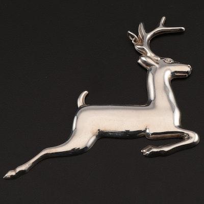"Gorham American Heritage Society ""Christmas Reindeer"" Sterling Silver Ornament"
