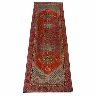 3'4 x 9'9 Hand-Knotted Northwest Persian Runner, 1940s