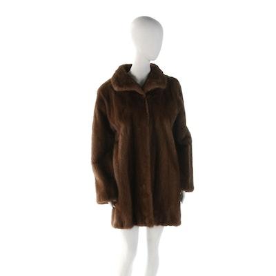 Saga Mink Lunaraine Ranched Mink Fur Short Coat, Vintage