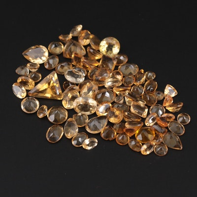Loose 67.20 CTW Citrine Gemstones