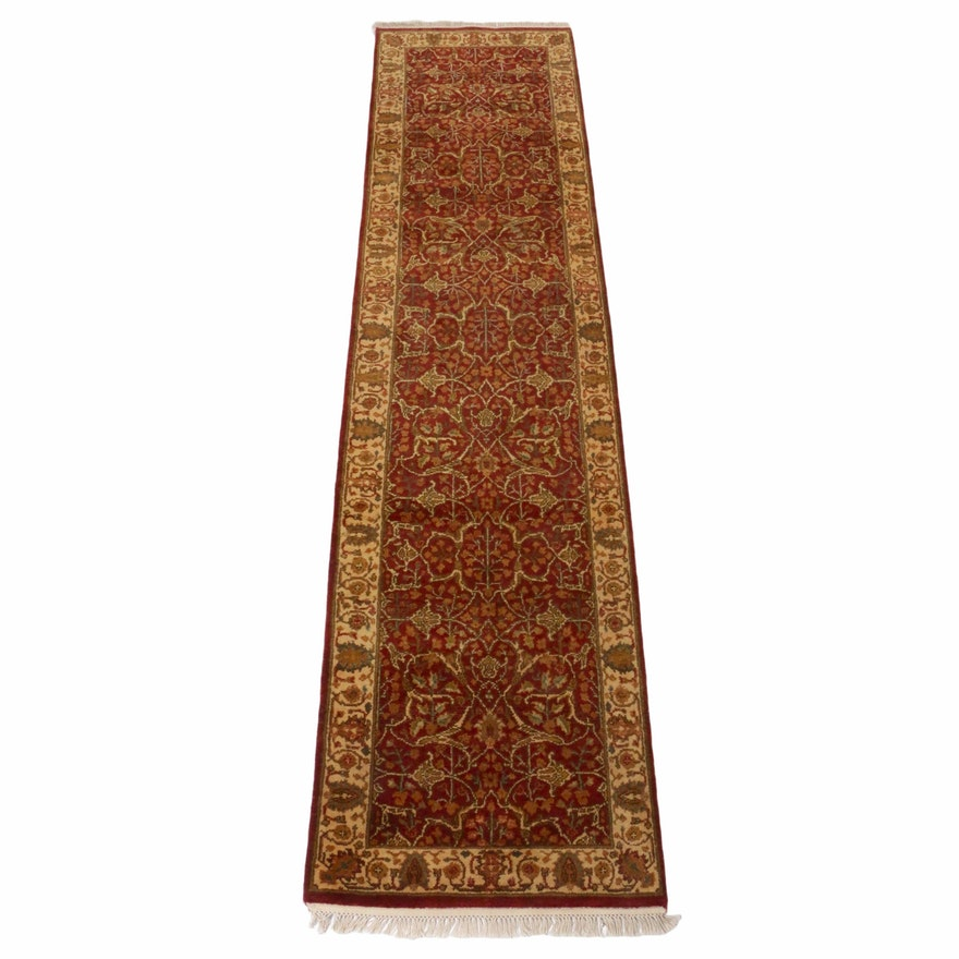 2'7 x 10'7 Hand-Knotted Indo-Persian Tabriz Runner, 2000s