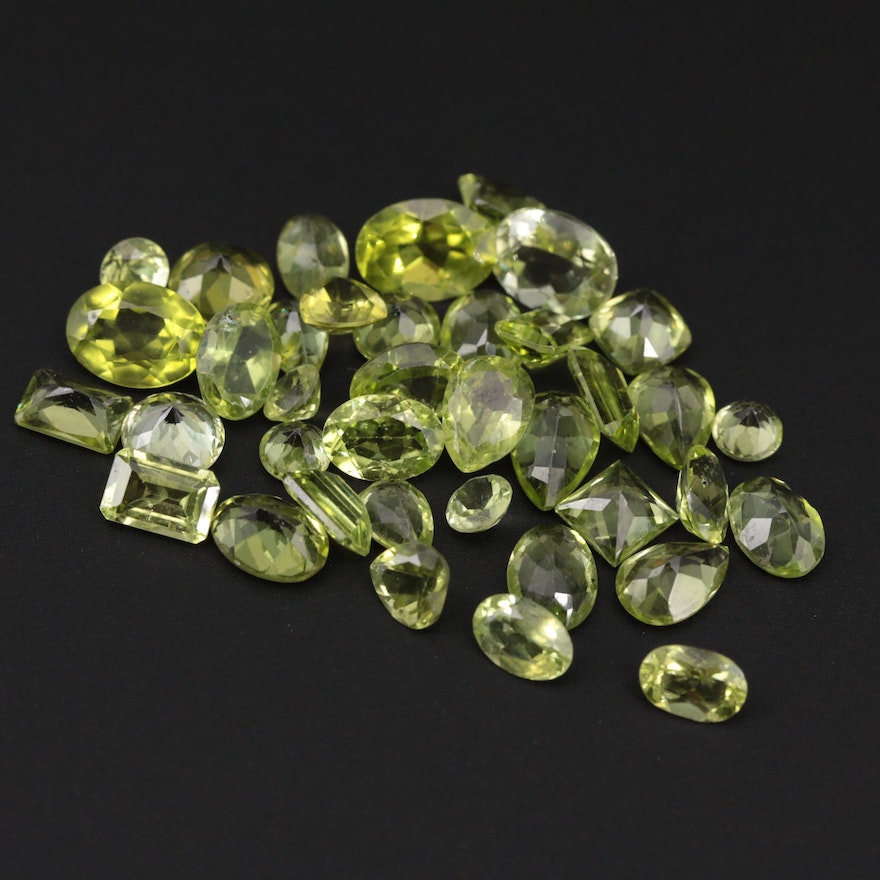 Loose 25.45 CTW Peridot Gemstones