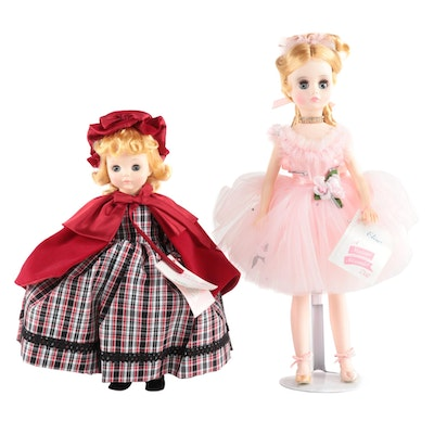 "Madame Alexander 14"" ""Molly"" and 18"" ""Elise"" Dolls With Original Boxes"