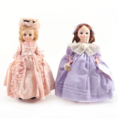 "12"" Madame Alexander ""Madame Doll"" and ""Mimi"" Vinyl Dolls With Original Boxes"