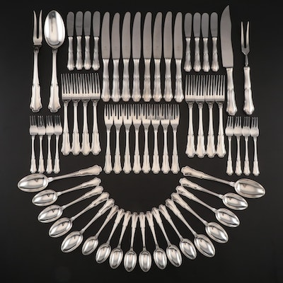 "Mario Buccellati of Italy ""Savoy"" Sterling Silver Flatware, Late 20th Century"