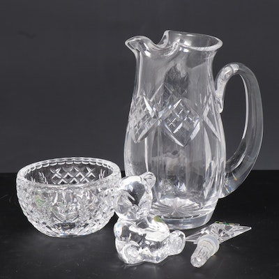 "Waterford Crystal ""ABC Teddy Bear"" Figurine and Other Waterford Serveware"