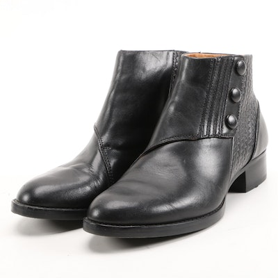 Ariat Black Leather Side Snap Booties