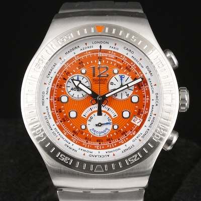Swatch Irony Get Fly Back Stainless Steel Chronograph Wristwatch