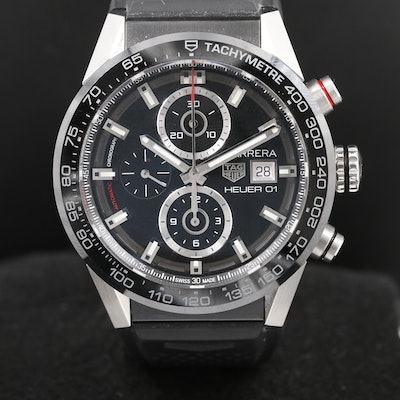 TAG Heuer Carrera Stainless Steel Automatic Chronograph Wristwatch