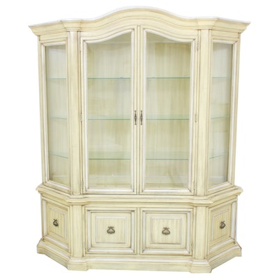 French Provincial Style China Cabinet, Mid to Late 20th C.