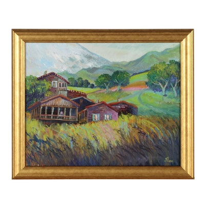 Thea Mamukelashvili Landscape Oil Painting