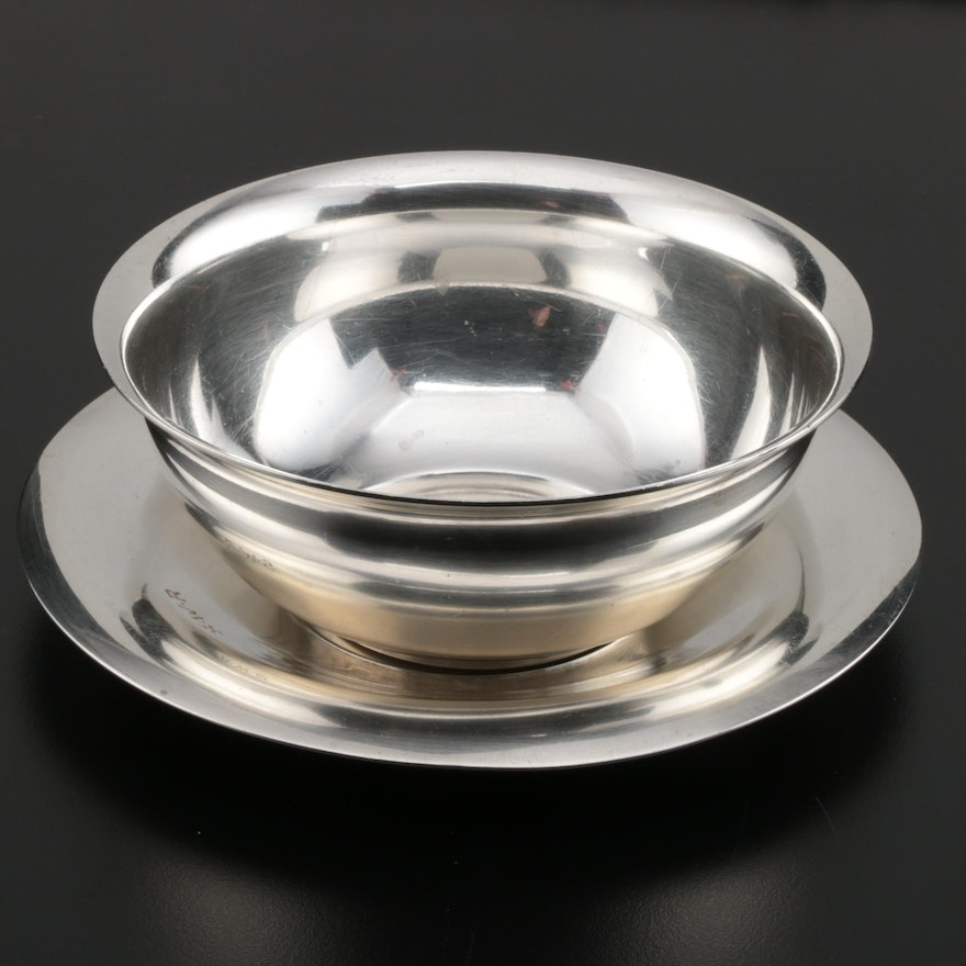 Tiffany & Co. Sterling Silver Candy Bowl with Underplate, Early 20th Century