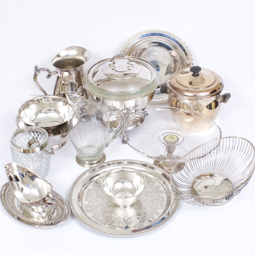 Gorham, WM Rogers and More Silver-Plated Serveware