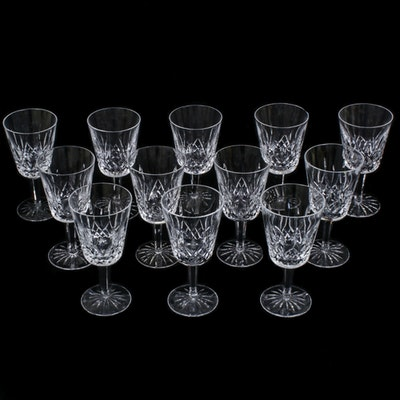 "Waterford Crystal ""Lismore"" Water Goblets, Late 20th Century"