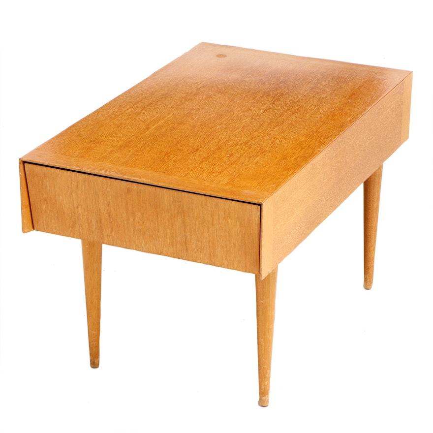 Brown-Saltman, Mid Century Modern Blonde Mahogany Magazine Tray End Table