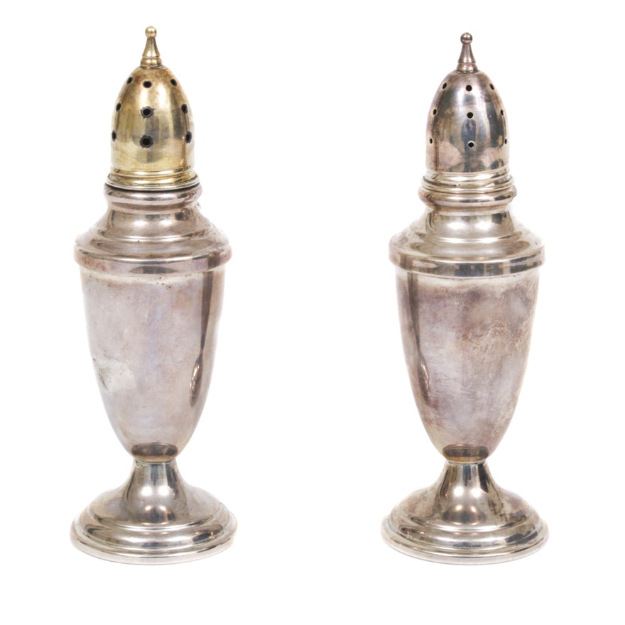 Towle Sterling Silver Salt and Pepper Shakers, Mid-20th Century