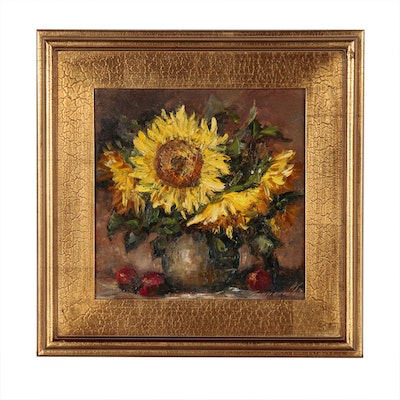 "Garncarek Aleksander Oil Painting ""Sunflowers"""
