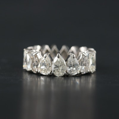 18K White Gold 5.03 CTW Diamond Eternity Band