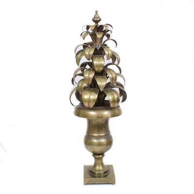Italian Sculpted Brass Topiary, Mid-20th Century