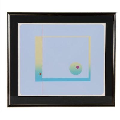 """Rudy Ayoroa Abstract Serigraph """"Voyager No 1"""", 1981"""