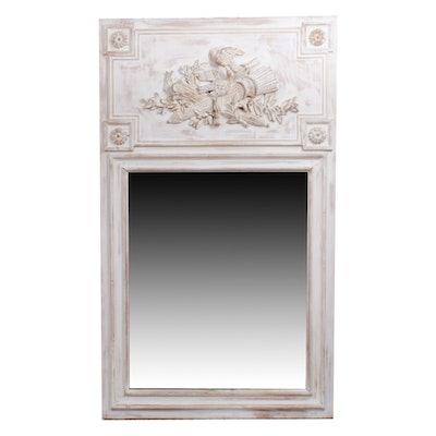 French Provincial Style Carved Wood Framed Wall Mirror