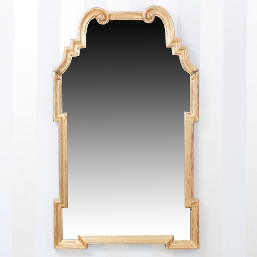 Gilt Finish Accent Wall Mirror, Late 20th Century