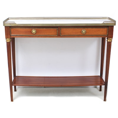 Regency Style Mable Top Hall Table, Mid-20th Century