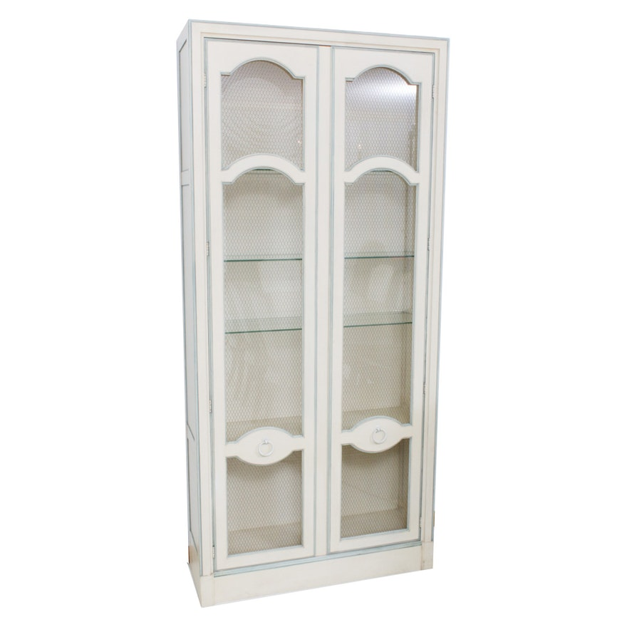 French Provincial Style China Cabinet, Mid to Late 20th Century