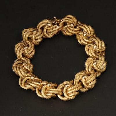 Vintage Tiffany & Co. 18K Yellow Gold Fancy Knot Link Bracelet