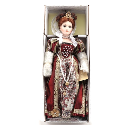 "24"" Alberon Dolls ""Elizabeth 1st"" Porcelain Doll With Box, Limited Edition"