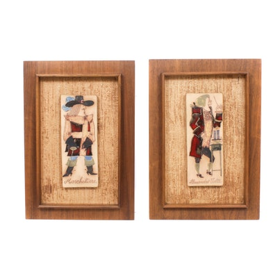"Ceramic ""Moschettiere"" and ""Alessandro Volta"" Wall Hangings"