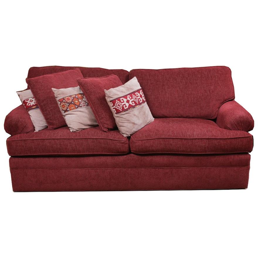 Chenille Upholstered Sleeper Sofa, Contemporary