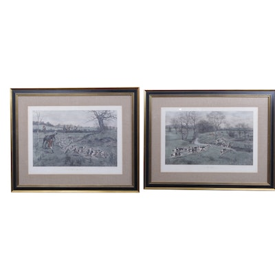 Lithograph Prints After George Derville Rowlandson Etchings