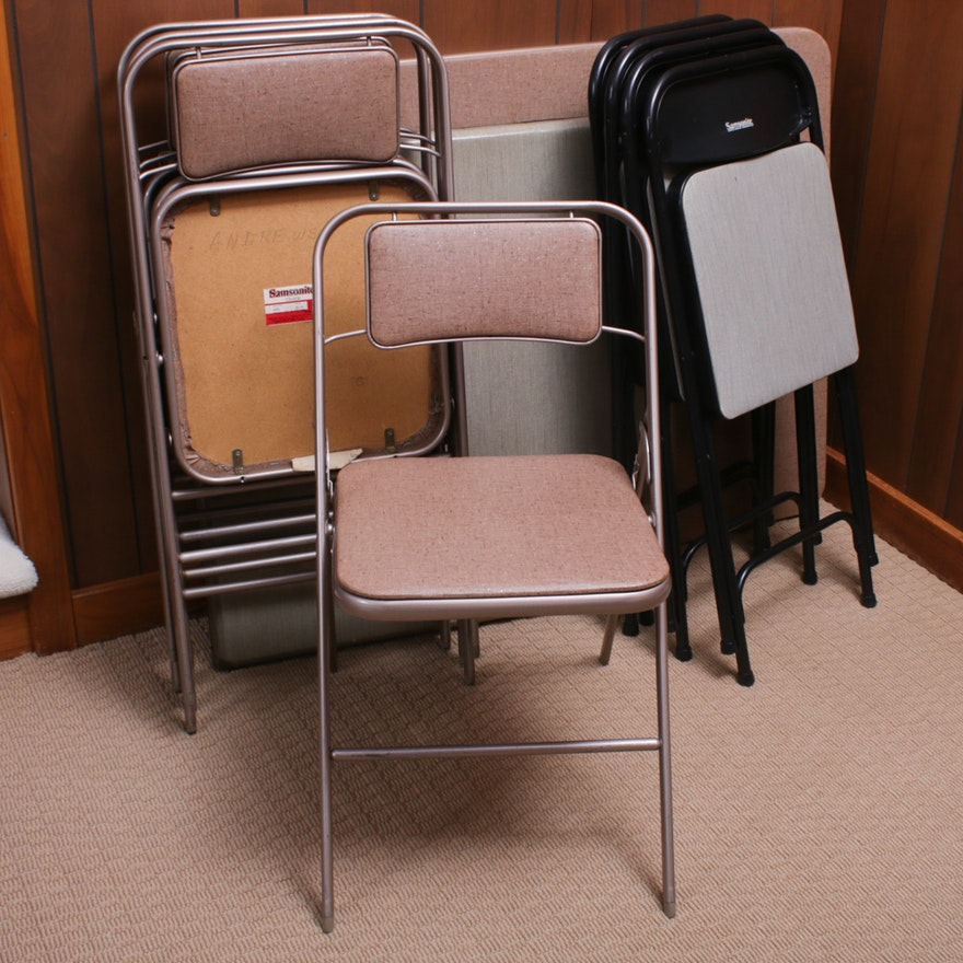 Two Samsonite Card Tables with Matching Chairs, Mid-20th Century