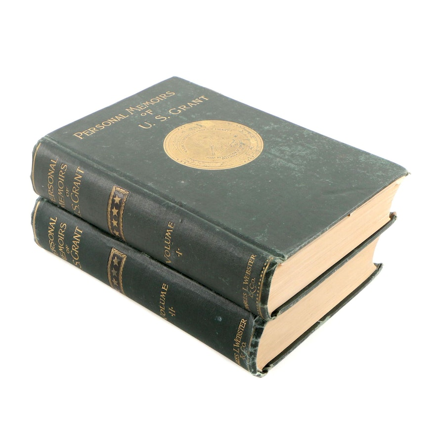 """1885-86 First Edition """"Personal Memoirs of U. S. Grant"""" in Two Volumes"""
