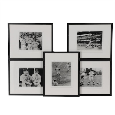 Framed New York Times Photo Collection of  Yankees Players