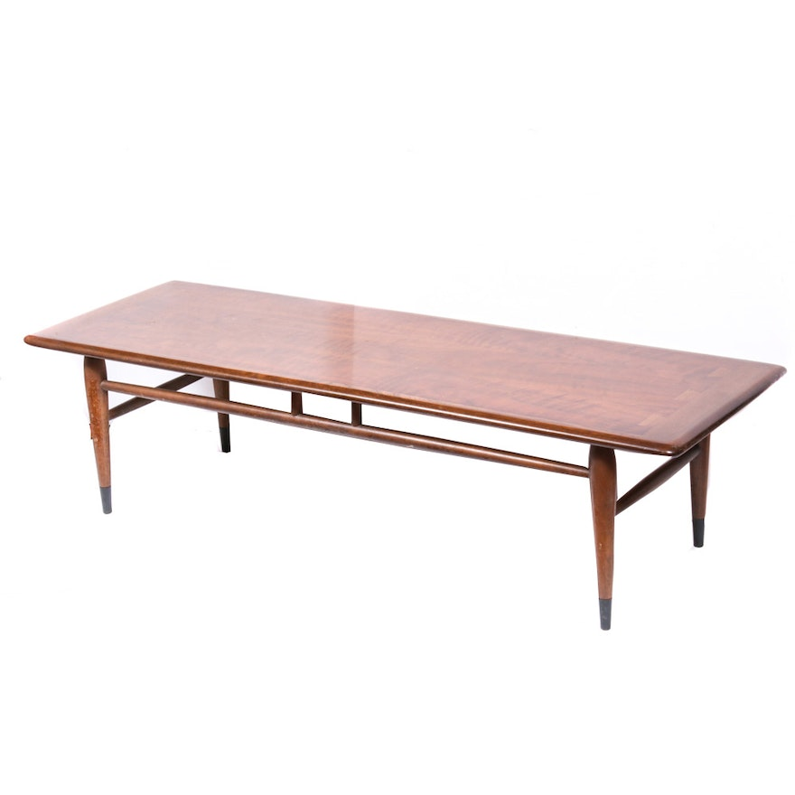 """Andre Bus for Lane Mid Century Modern """"Acclaim"""" Walnut Coffee Table"""