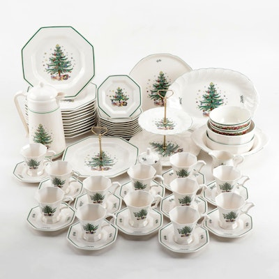 "Nikko ""Christmastime"" Ceramic Dinnerware and Serving Pieces with Others"