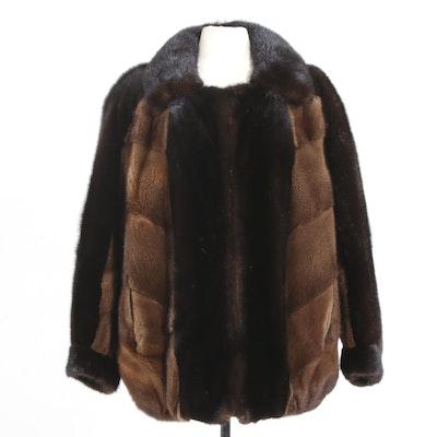 Two-Tone Mink Fur Apres Ski Jacket, Vintage