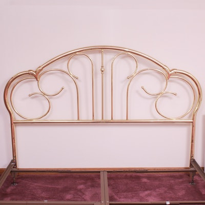Brass King Size Bed, Late 20th Century