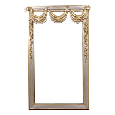 Regency Style Gilt and Silver Wall Mirror